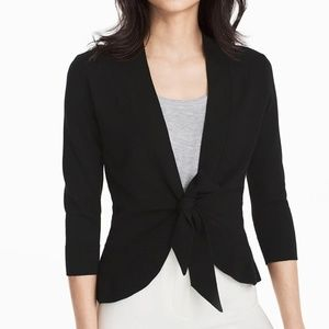 3/4 SLEEVE PEPLUM COVERUP SWEATER by WHBM